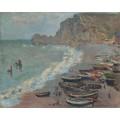 Пляж в Этрета, 1883 - Моне, Клод