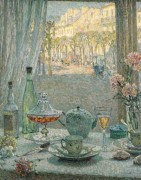 Стол возле окна, размышления, 1922 - Сиданэ, Анри Эжен Огюстен Ле