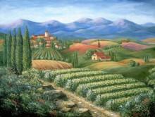 Тоскана, деревня и виноградники - Данлап, Мэрилин (20 век)