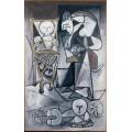 Рисующая женщина - Пикассо, Пабло