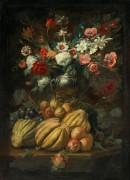 Цветы в вазе и фрукты на столе - Брейгель, Абрахам