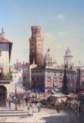 Рыночная площадь в Болонье - Зиген, Август фон