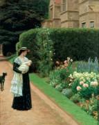 Гувернантка с ребенком на прогулке - Лейтон, Эдмунд Блэр