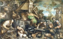 Кузница Вулкана, 1585 - Боссано, Якопо