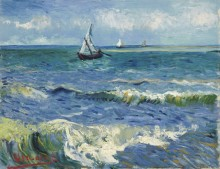 Морской пейзаж у Сент-Мари-де-ла-Мер  (Seascape at Saintes-Maries), 1888 - Гог, Винсент ван