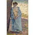 Молодая женщина в голубом пеньюаре (Young Woman in Blue Peignoir), 1905 - Рейссельберге, Тео ван
