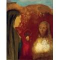 Христос и самаритянка (Белый букет) - Редон, Одилон