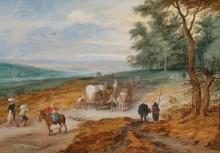 Пейзаж с путниками на лесной дороге - Брейгель, Ян (младший)
