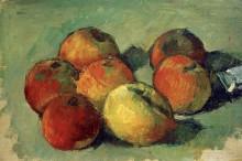 Семь яблок и тюбик краски - Сезанн, Поль