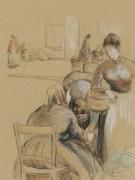 Продуктовый рынок в Понтуа, 1891 - Писсарро, Камиль