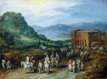 Пейзаж с всадниками - Брейгель, Ян (младший)
