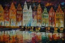 Панорама Амстердама - Афремов, Леонид (20 век)
