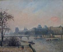 Сена и Лувр, 1903 - Писсарро, Камиль