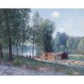 Каюты на берегу Луана, утренний эффект, 1896 - Сислей, Альфред