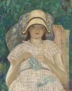 Девушка  за вязанием, 1928 - Фризек, Фредерик Карл