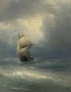 Корабль в море - Айвазовский, Иван Константинович
