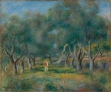 Оливковые деревья - Ренуар, Пьер Огюст