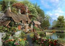 Дом у реки с цветущим полисадом - Девисон, Доминик