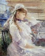 Сидящая женщина в профиль - Моризо, Берта