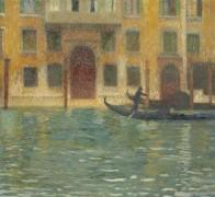 Гондола у венецианского палаццо - Мартен, Анри Жан Гийом