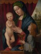 Мадонна с младенцем и ангелом -  Франческо Франча (Франческо ди Марко ди Джакомо Райболини)