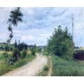 Дорога в  Овер, Понтуаз, 1879 - Писсарро, Камиль