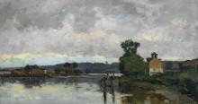 Сена в Кантело летом, 1882 - Лебург, Альберт