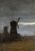 Ветряные мельницы. Поздние сумерки. 1870-80 - Левитан, Исаак Ильич