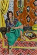 Сидящая одалиска с шахматной доской - Матисс, Анри