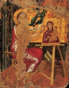 Святой лука, рисующий Мадонну с Младенцем - Греко, Эль