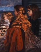 Три юные англичанки у окна - Курбе, Гюстав