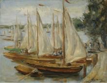 Парусники на озере Ванзе, 1922 - Либерман, Макс