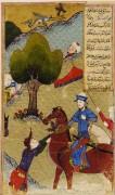 Тамерлан «Тимур перед битвой», фолио из разрозненного экземпляра «Зафарнамы» (Книги побед) Шараф ад-дин Али Язди. - Хасан, известный как Сирадж аль-Хусаини , Якуб ин