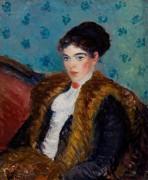 Женщина с накидкой из лисьего меха - Глакенс, Уильям