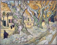 Ремонт дороги (Large Platunus (The Road Menders), 1889 - Гог, Винсент ван