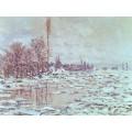 Дробление льда, пасмурная погода (1880) - Моне, Клод