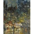 Парижское кафе ночью, 1936 - Коровин, Константин Алексеевич
