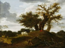 Пейзаж с пастухом и пастушкой - Фрагонар, Жан Оноре