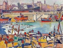 Сценка в порту - Вальта, Луи