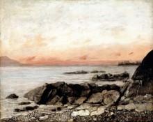 Закат над Женевским озером, Веве - Курбе, Гюстав