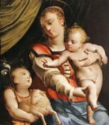 Мадонна с младенцем и молодым святым Иоанном Крестителем -  Камбьязо, Лука