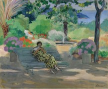 Молодая женщина с голубем, 1923 - Лебаск, Анри