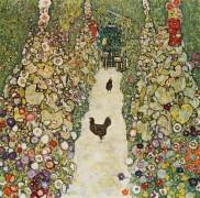 Садовая аллея с курицами - Климт, Густав