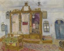 Интерьер йеменской синагоги в Иерусалиме - Шагал, Марк Захарович
