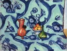 Натюрморт с голубой скатертью - Матисс, Анри