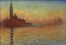 Сан-Джорджо Маджоре, Венеция, закат - Моне, Клод