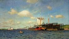Свежий ветер. Волга. 1895 - Левитан, Исаак Ильич