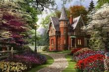 Викторианский дом с цветущим садом - Девисон, Доминик