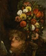 Женщина и цветы - Курбе, Гюстав