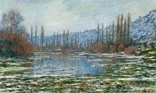 Оттепель в Ветёе, 1881 - Моне, Клод